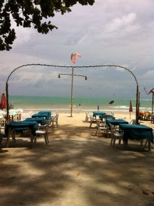 Beachfront view from a nearby thai eatery