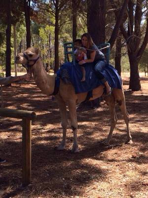 Camel ride! Fun for the boy...pain for me..:p