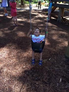 Oh what swinging joy!