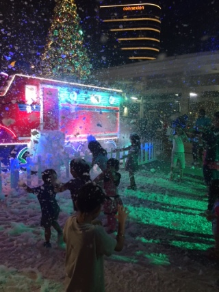 Lights and Snow Play time