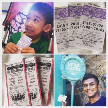 Just some of the Fastpasses we managed to get our hands on...it truly makes the experience that much more pleasant especially for the kids