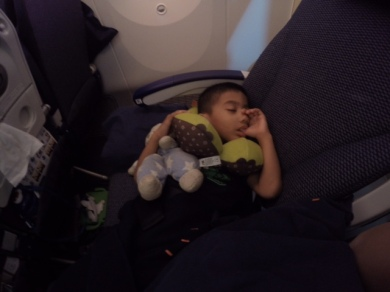 Awesome! 1 napping kid!