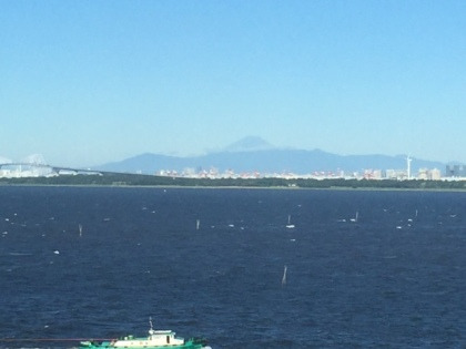 View of Mount Fuji from our room