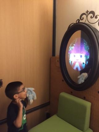 Magic Mirror and his princess friend